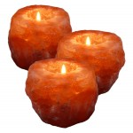 Himalayazout theelichthouders voordeelset van 3 stuks