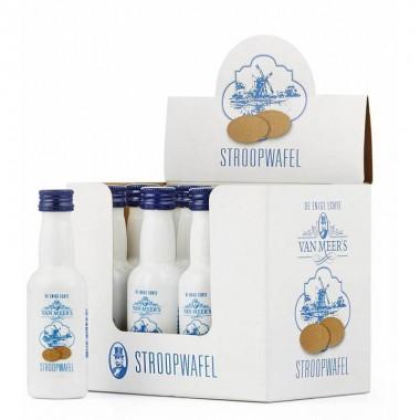 Stroopwafel likeur uitdeeldoos met 12 flesjes 0,05 cl. van Meer's