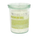 Fleur de sel India in glazen pot