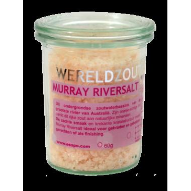 Murray River zout in glazen pot