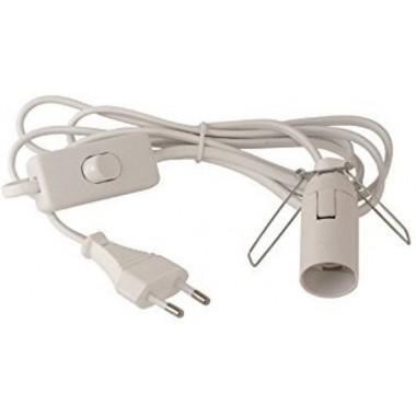 Armatuur / Kabel fitting E14 met aan/uit knop geschikt voor Himalayazoutlampen